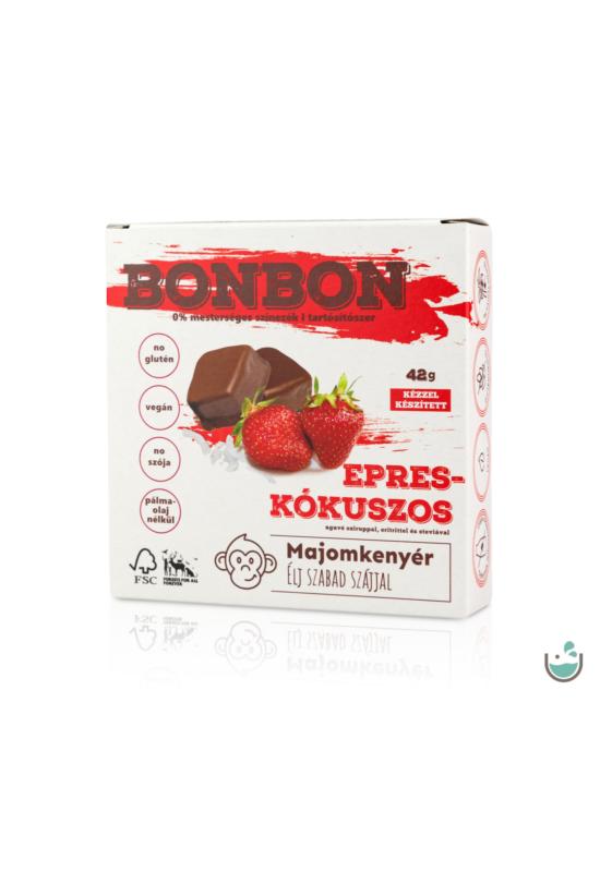 Majomkenyér epres-kókuszos bonbon 42 g – Natur Reform