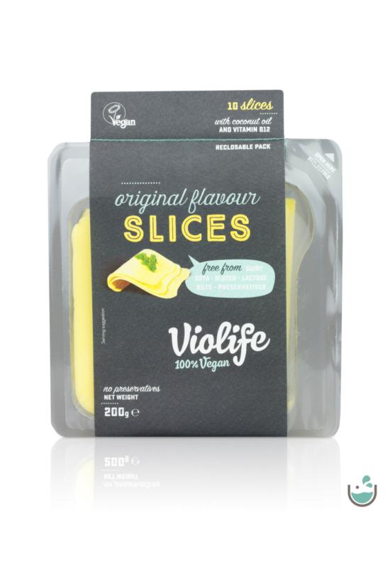 Violife natúr szeletelt növényi sajt 200 g – Natur Reform