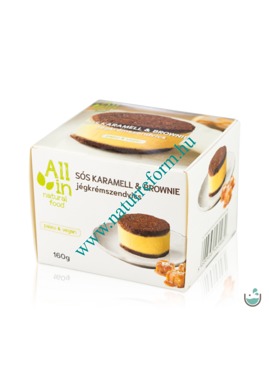 ALL IN natural food Sós karamell & Brownie jégkrémszendvics 160 g – Natur Reform